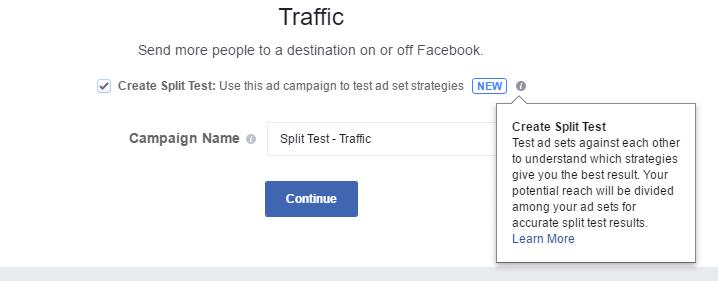 Facebook Split Test