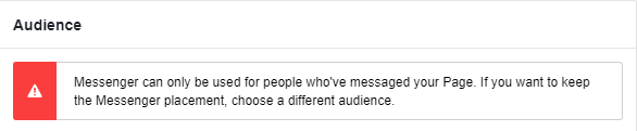 MESSENGER AD audience