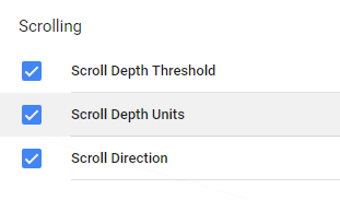 Google Tag Manager Scroll Variables
