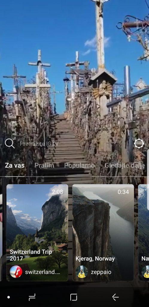 Instagram TV sučelje